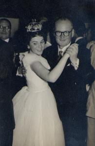 Marta y el Alcalde Vicente Montecino