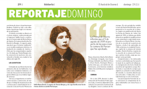 Sofía Rosas Durán, esposa de Tomás Burgos Sotomayor