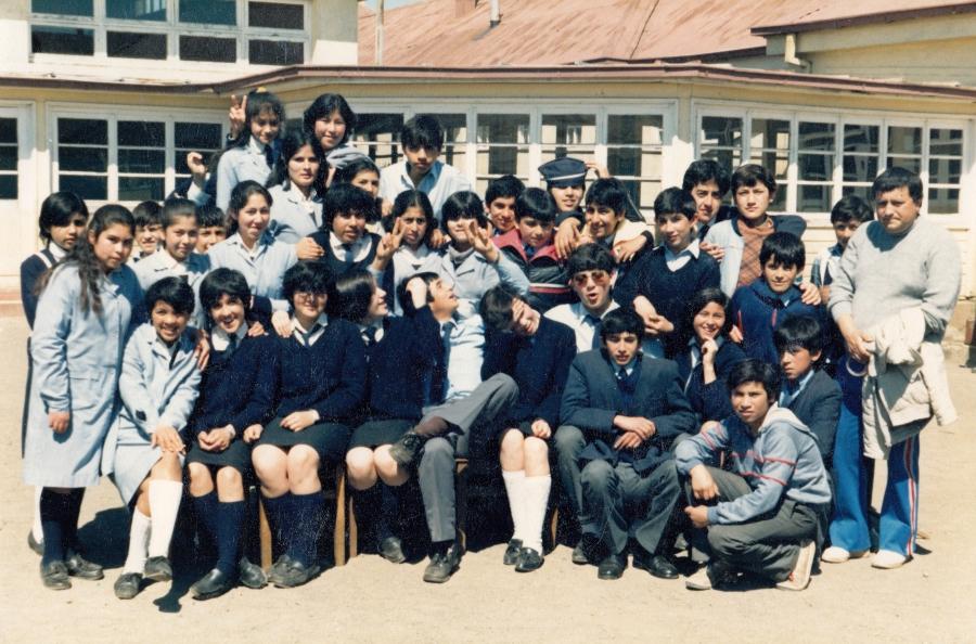 Alumnos de la Escuela Villa Lo Burgos