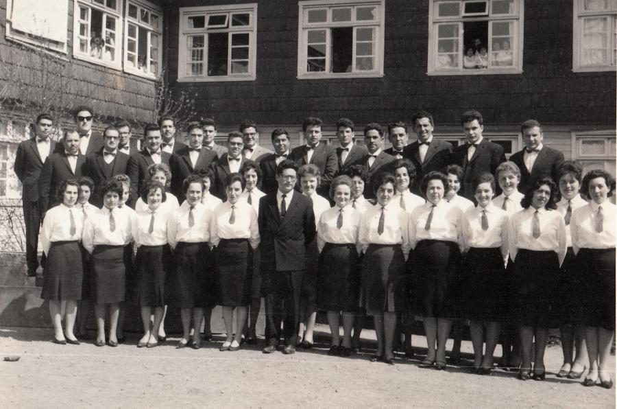 Coro Polifónico de Purranque en el año 1963.