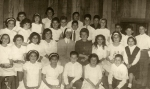 Grupo de confirmación en el Colegio San Gaspar