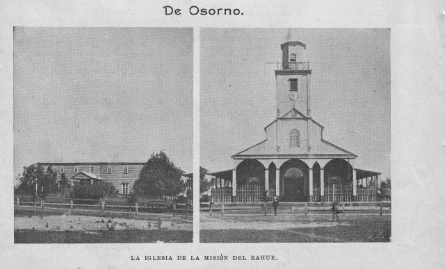La iglesia de la Misión del Rahue en el año 1909